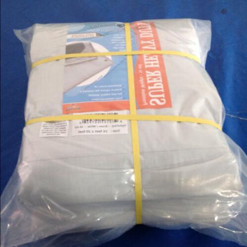 outdoor white resistant waterproof tarpaulin 12 mil