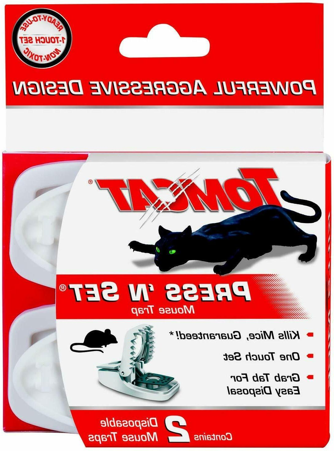 Tomcat Powerful Press 'N Set Mouse Trap 2-Pack Mice Traps