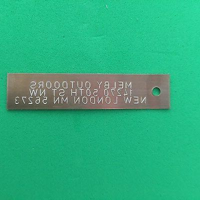 qty 50 engraved copper trap tags trapping