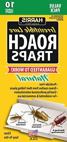 Harris Roach Glue Traps w/Lure, Non Toxic & Pesticide Free