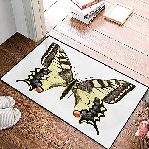 "Swallowtail Butterfly Bath for Machaon World Swallowtail Wildlife Biology Door mats for Mat 24""x36"""