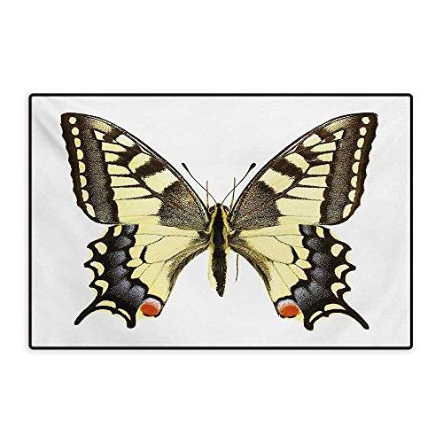 swallowtail butterfly bath mats
