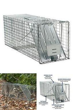 Large 1 Door Animal Cage Trap Raccoon Groundhog Pest Hunting