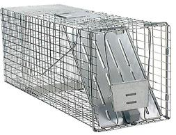 Large 1-Door Live Animal Cage Trap Outdoor Living Unique New