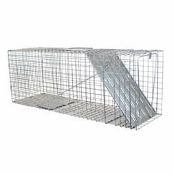 Large 1-Door Professional Live Animal Cage Trap for Raccoon,
