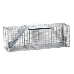 Large 2-Door Professional Live Animal Cage Trap for Raccoon,