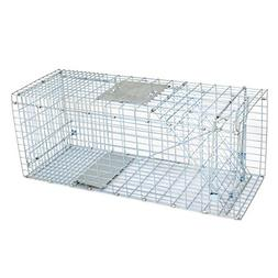 "ZENY Live Animal Cage Trap 32"" X 12.5"" X 12"" Steel Cage Catc"