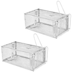 "YISSVIC Live Animal Trap 2 Pack 11"" X 9.5"" X 6"" Catch"