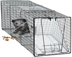 "Live Animal Trap 24"" x 7"" x 7"" Humane Catch Release Rodent C"