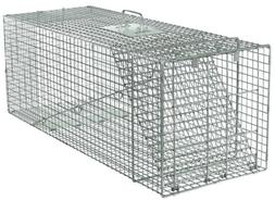 Live Animal Trap Racoon Skunk Rabbit Dog Cat Steel Cage Coll