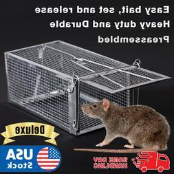 Live Humane Cage Mouse Trap Rat Hamster Catch Control Bait H