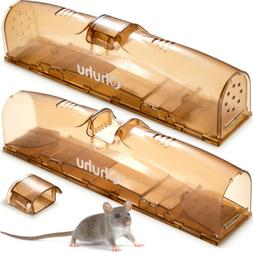 2 Pack  2-Door Harmless Live Catch Mice Trap Easy and Safe t
