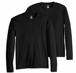 Hanes Men's Long Sleeve Cool Dri T-Shirt UPF 50+, XX-Large,