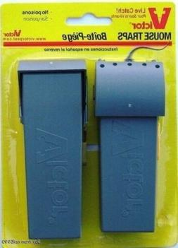 Victor M007 Pack of 2 Plastic Humane Live Catch Mouse Traps