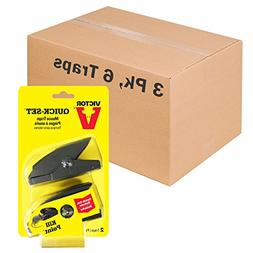 Victor M137-3A Quick-Set Mouse Traps, 6, Brown Geometric Pat