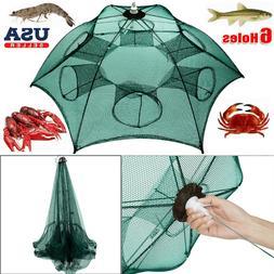 Fishing Bait Trap Foldable Minnow Crawdad Shrimp Cast Dip Ca