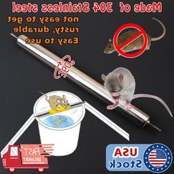 Metal Mice Rats Mouse killer Roll Trap log Grasp Bucket Roll