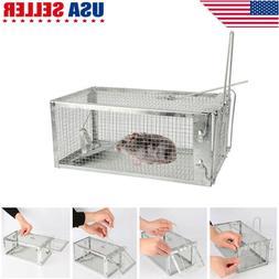 Metal Mouse Trap Humane Live Catcher Rat Vermin Rodent Cage