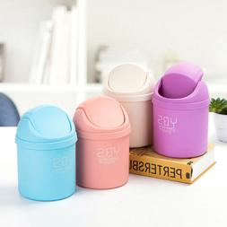 Mini Small Waste Bin For Desktop Garbage Basket Table Home O