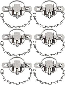 Pack of 6 Duke #2 Model 0490 Coil Spring Traps with a 5.5 In
