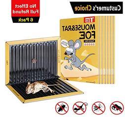 T Box Mouse Glue Traps, Wavy Shape Glue& Black Glue Board,6