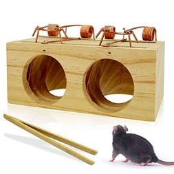 OLICTA Mouse Trap Wood That Work Humane Snap Rodent Killer E