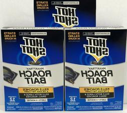 new 3 boxes of 12  Hot Shot Max Attrax Roach Bait Trap stati