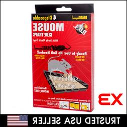 Pack of 12 D.O.A. Disposable Glue Traps for Mice Rats Mouse
