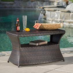 Outdoor Table Side Wicker Patio Furniture  Deck Yard Garden