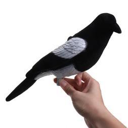 Plastic Flocked Magpie Decoy Bait <font><b>Shooting</b></fon
