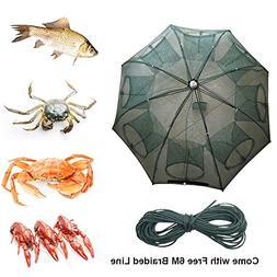 Portable Foldable 4/6/8/10/12/16 Holes Automatic Fishing Net