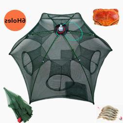 Portable Folding Fishing Bait Trap Crab Net Crawdad Shrimp C