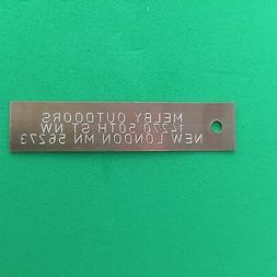 QTY 50-ENGRAVED COPPER TRAP TAGS/TRAPPING SUPPLIES/TRAPS/ANI