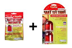 Rescue Bundle Pack Reusable Fruit Fly Trap, 2-Pack with Non-