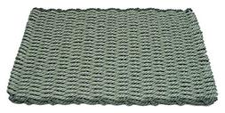 Sage w Evergreen Rectangular Handcrafted Doormat Border