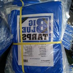 Sale Blue Outdoor Waterproof Heavy Duty Tarpaulin 7 Mil Camp