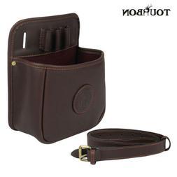 Tourbon Skeet Trap Shell Pouch Leather Shotgun Shell Sportin