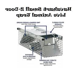 small 2 door live animal trap skunk