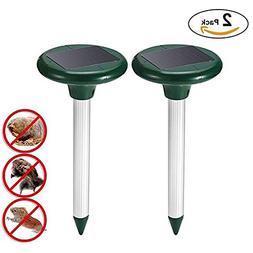 Alpeft 2pcs Solar Energy Mouse Gopher Repeller pest Control