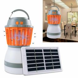 Solar LED Fly Insect Zapper Trap Lamp Outdoor Mosquito Kille