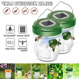 2xSolar Powered Outdoor Wasp Trap Catcher UV Light – Traps