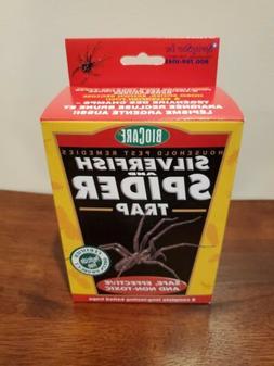 BIOCARE SPIDER AND SILVERFISH TRAP 6 COUNT  ~BNIB~