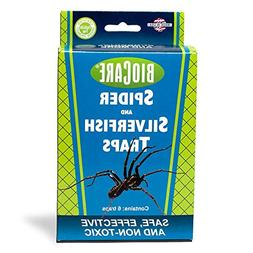 BioCare Spider and Silverfish Sticky Traps, Nontoxic and Pes