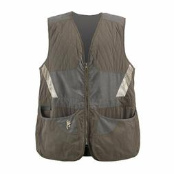 Browning Summit Shooting Vest for Men - Tan/Chocolate/Taupe