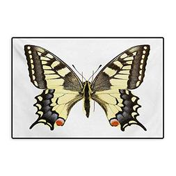 Swallowtail Butterfly Bath Mats for Floors Yellow Papilio Ma