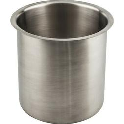 """Hardware Resources TCR66 Stainless Steel 6"""" Dia. Trash Can G"""