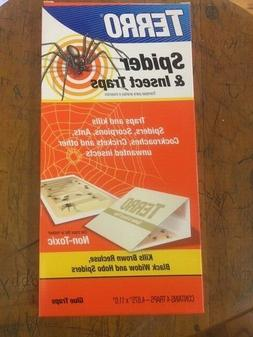 Terro 3200 4 Pack Spider & Insect Trap Non-Toxic Glue Pads