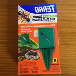 TERRO T1812 Outdoor Liquid Ant Killer Bait Stakes-8 Count 0.