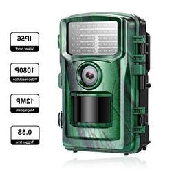 verkarma Trail Camera 12MP 1080P,Game&Hunting Camera with 12
