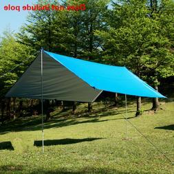 Waterproof Aluminum Awning Fly Tent Tarp Sun Shade Sail UV B